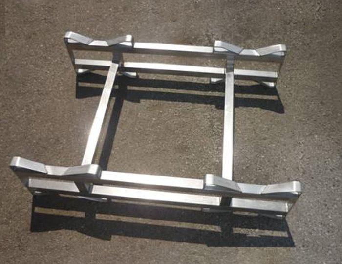 Supporto in acciaio inox per barriques
